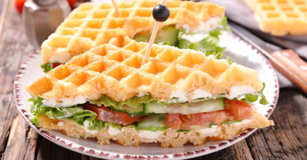 delicious food hacks with waffle iron